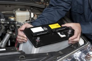 Replacing battery through complete vehicle maintenance
