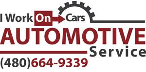 I Work On Cars Logo