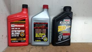 Various synthetic oils